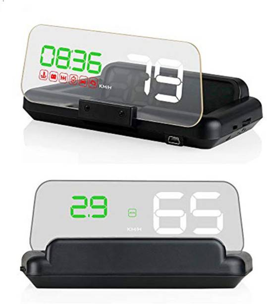 "upwade 5"" Multi-Color Screen Car hud Head up Display OBD2 Speed Warning with Flap Digital Speedometer"