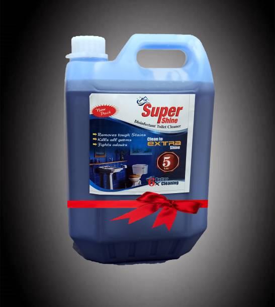 NEW SUPER SHINE TOILET CLEANER 5 LTR Regular Gel Toilet Cleaner
