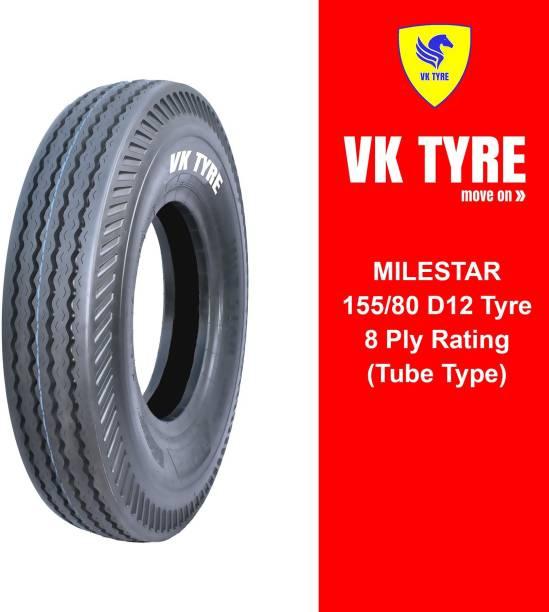 VK TYRE MILESTAR RIB 155/80 D12 4 Wheeler Tyre