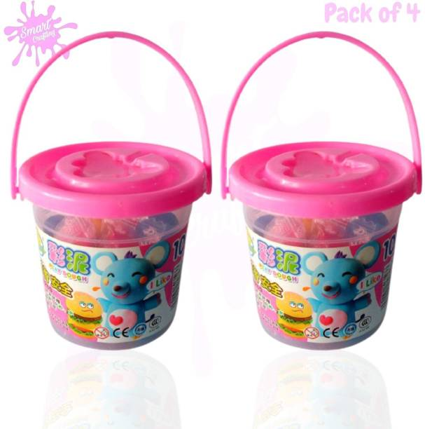 SmartCrafting Gift & Toys Premium Clay Bucket of 12 Clay Stick Art &Craft Art Clay