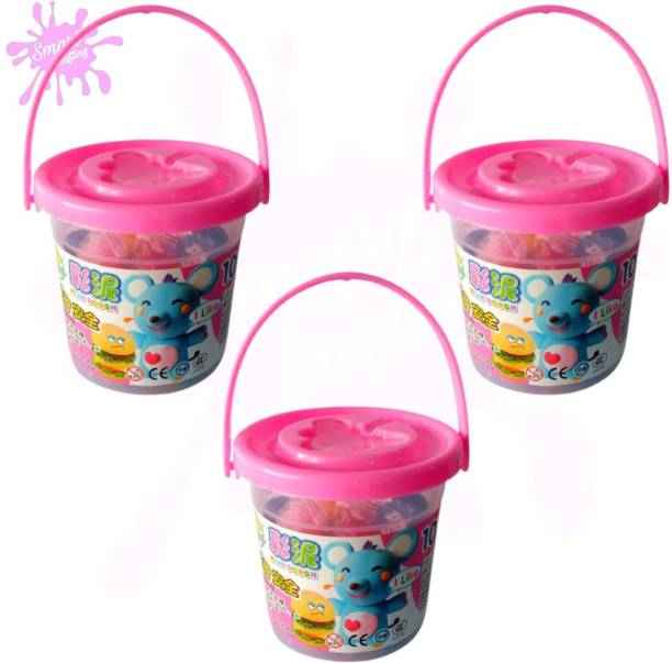 SmartCrafting Bucket DIY Ultra Light Modelling Bouncing Clay for Kids Art Clay