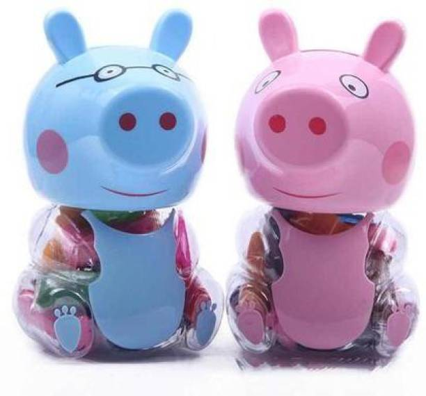 KRH STORE 2 in 1 Peppa Pig Clay/ play dough with Piggy bank (1 Piece)