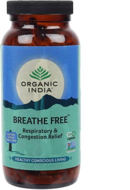 Organic India Breathe Free 250 Capsules Bottle