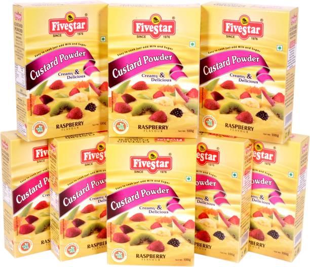 Five Star Custard Powder Raspberry (100g x 8) Custard Powder