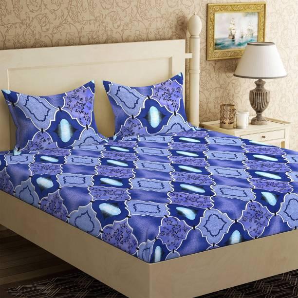 IWS 144 TC Microfiber Double 3D Printed Bedsheet