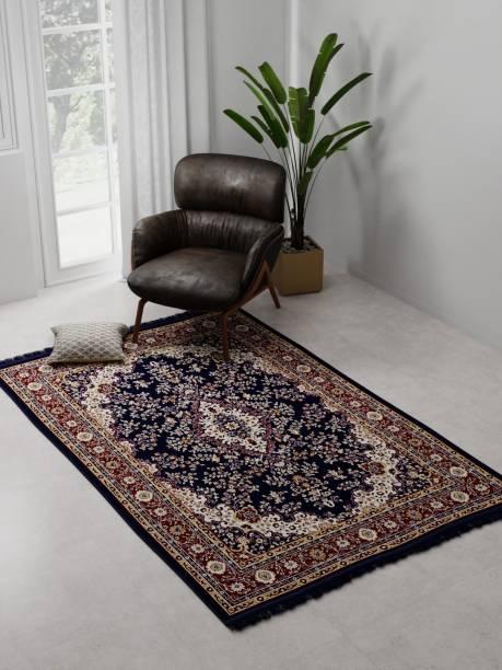 Raymond Home Dark Blue Polyester Carpet