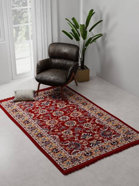 Raymond Home Red Polyester Carpet
