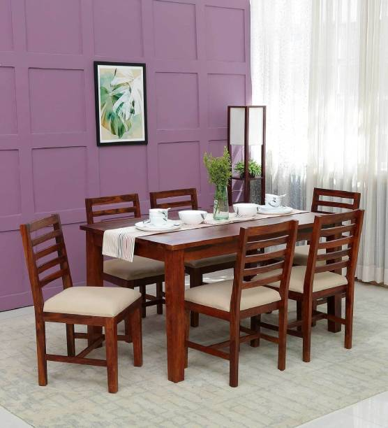 Demaiwall Solid Wood 6 Seater Dining Set