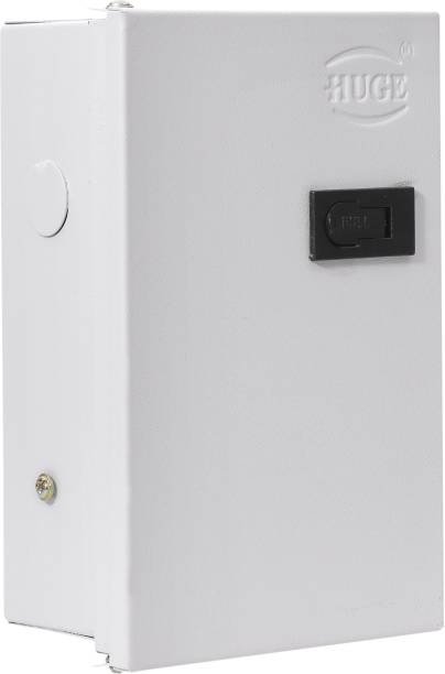 Huge 4 Way SPN MCB Box, Double Door MCB Distribution Board, Iron, Off White Distribution Board