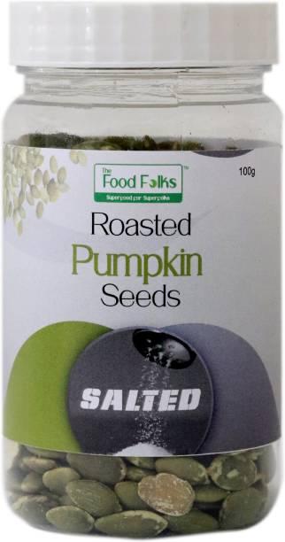 The Food Folks Salted Roasted Pumpkin Seeds Small Jar (100g)