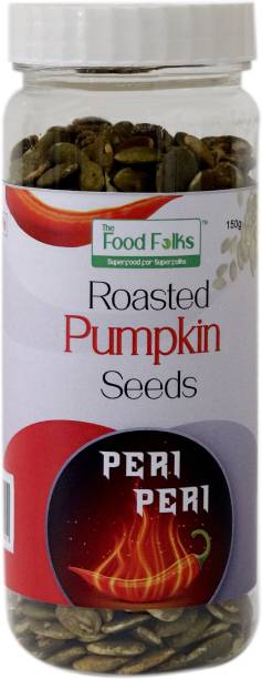 The Food Folks Peri Peri Roasted Pumpkin Seeds Tall Jar (150g)
