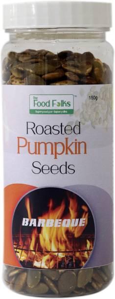 The Food Folks Barbeque Roasted Pumpkin Seeds Tall Jar (150g)