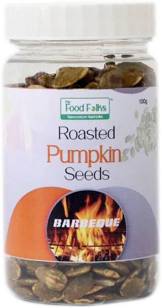 The Food Folks Barbeque Roasted Pumpkin Seeds Small Jar (100g)