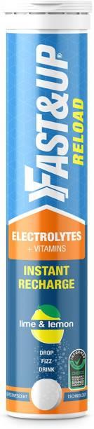 Fast&Up Reload (Electrolytes) for Energy & Hydration Sports Drink, Lime&Lemon, 20 Tablets Hydration Drink