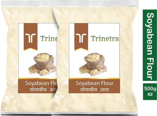 Trinetra Best Quality Soyabean Flour / Soyabean Atta 500g Pack of 2
