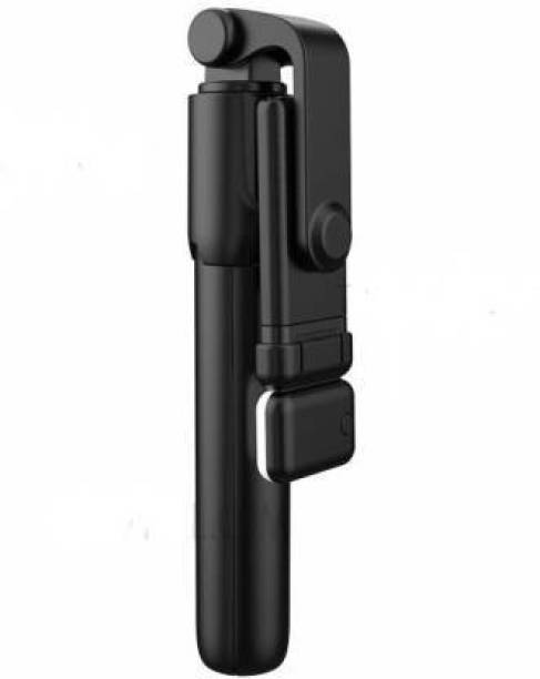 BMC R1S Bluetooth Extendable and Portable Selfie Stick and Stand With Wireless Remote and 2 Level Fill Light Single Gimbal