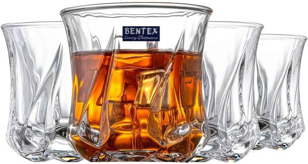 Bentex (Pack of 6) Premium Engraved Whiskey Glasses Glass Set