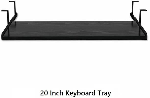 UniAart Wooden Keyboard Tray with Height Adjustable – Perfect Options for Office and Home Desk ( 11 x 20 Inch) Keyboard Tray