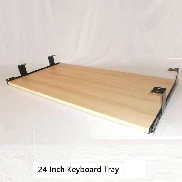 UniAart Heavy Duty Wooden Keyboard Tray with Height Adjustable – Perfect Options for Office and Home Desk (Golden, 11 x 24 Inch) Keyboard Tray