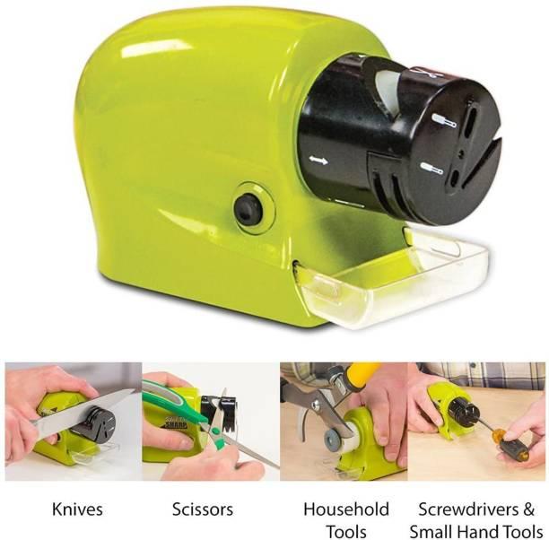 Mitwa Trends Electric Knife sharpener Motorized Sharpening tool Power Sharpener Precision Scissors Sharp Tool Home Kitchen Electric Grind Machine Electric Knife Sharpener Electric Knife Sharpener