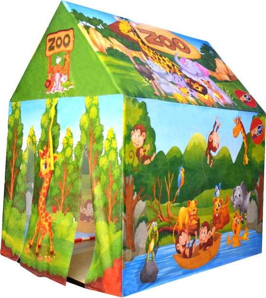 Planet of Toys present Zoo and Jungle Theme Play Tent House for Kids.