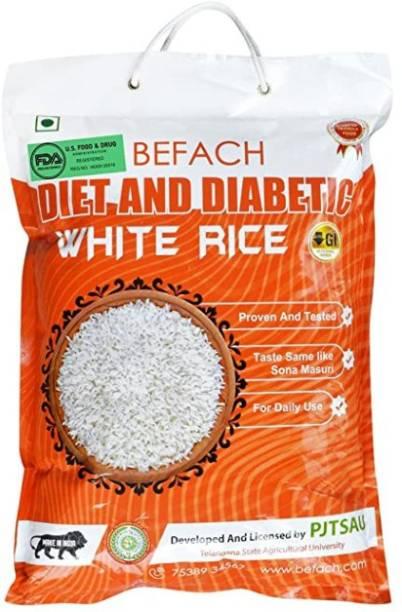 Befach Diabetic Friendly / Low Glycemic (GI) Index Sona Masoori Rice (Medium Grain, Polished)