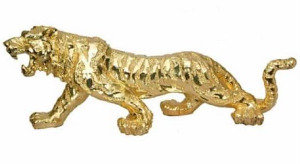 krishnagallery1 Gold Plated Loin statue Imported Tiger statue / leapord / Panther statue For Home showpiece Love Couple statue Gifted Item Decorative Showpiece  -  30 cm