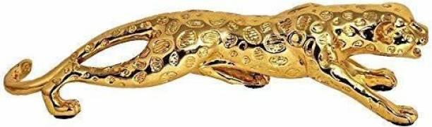 krishnagallery1 Gold Plated Jaguar statue Imported Tiger statue / leapord / Panther statue For Home showpiece Love Couple statue Decorative Showpiece  -  7.5 cm
