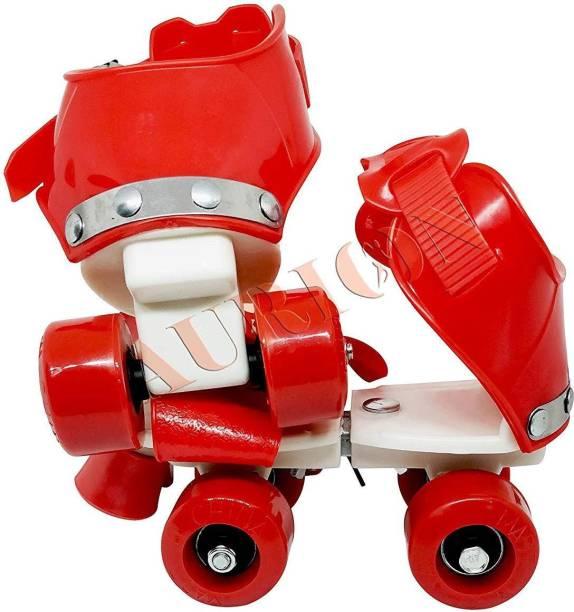 Aurion KIDS-ROLLER-SKATES(RED) Quad Roller Skates - Size 5-11 UK