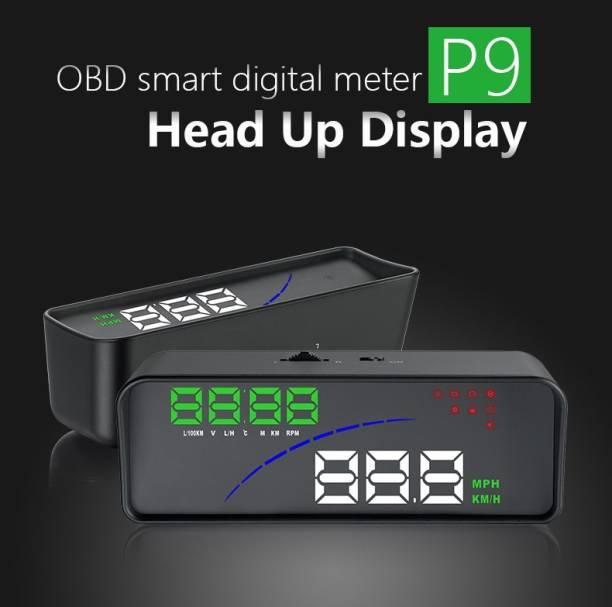 "upwade 3.6"" Multi-Color Screen Car hud Head up Display OBD2 Speed Warning with dual display Digital Speedometer"