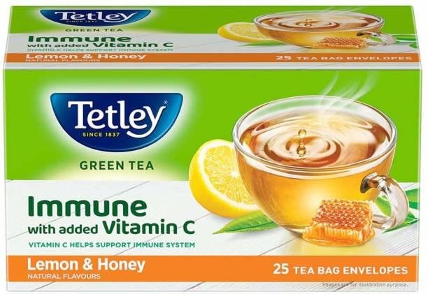 tetley Honey Lemon Flavour Green Tea Green Tea Box