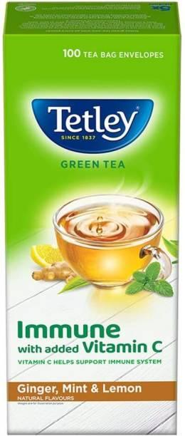 tetley Green Tea Lemon Flavour 100 Tea Bag Green Tea Bags Box