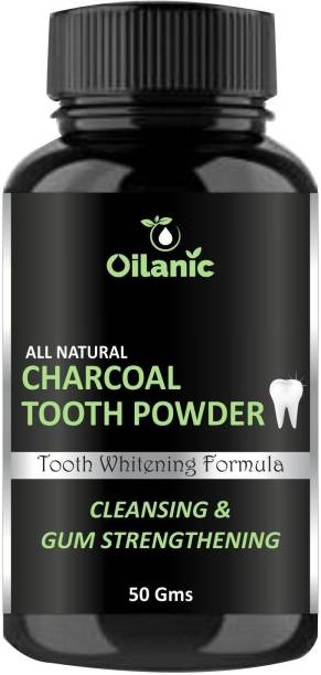 Oilanic 100% Pure & Natural Charcoal tooth Powder(50 Gms)