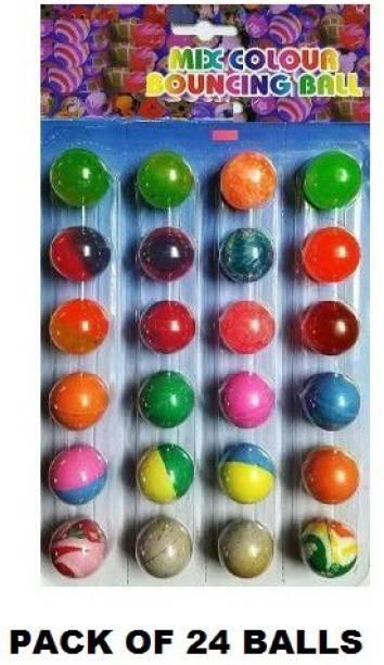 AKANSHA Bouncing balls/Jumping balls Multicolor (Set of 24) Crazy Ball