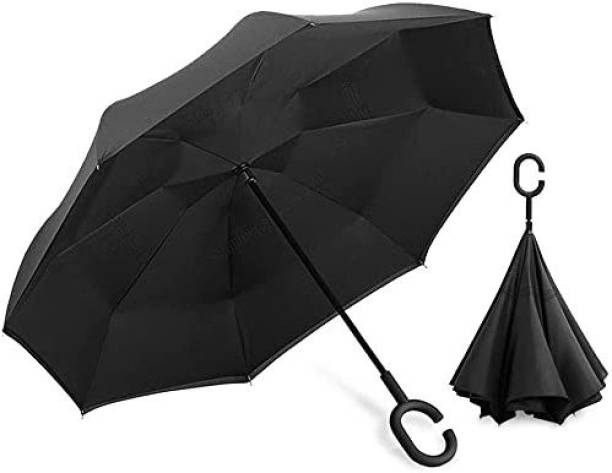 DODGE 'N WOLVES Umbrella Windproof, Reverse Umbrella, Umbrellas for Women with UV Protection, Upside Down Umbrella with C-Shaped Handle Umbrella