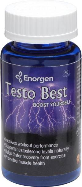 Enorgen Testo Best - Testosterone, Strength Booster, Energy, Builds Muscle Naturally