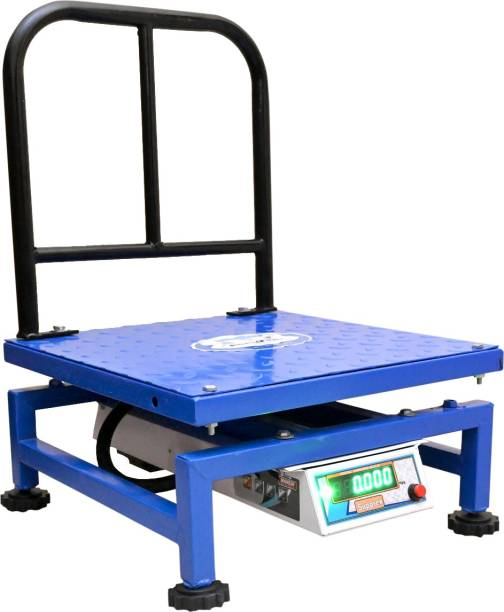 Supprex 150KG Capacity x 5 gram Accuracy Chicken 16x16 Inches PAN Weight Machine Double Size Display With Heavy Mild Steel Body and Rechargeable Battery Weighing Scale