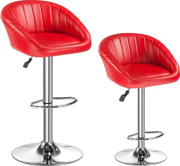 Da URBAN Mini Red (Set of 2) Leatherette Bar Chair