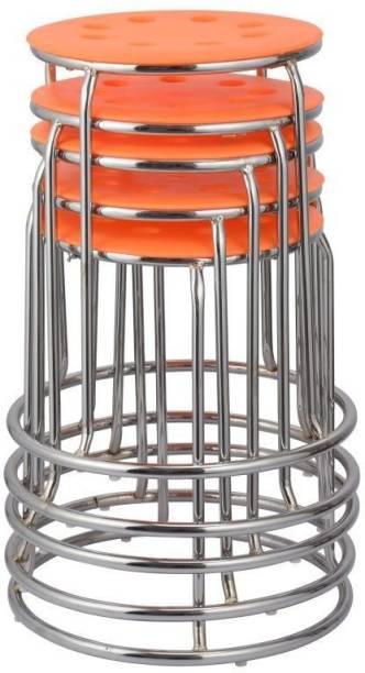 Da URBAN Disc Orange (Set of 5) Metal Bar Stool