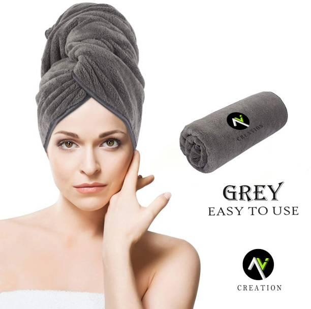 A V CREATION Cotton 400 GSM Hair Towel