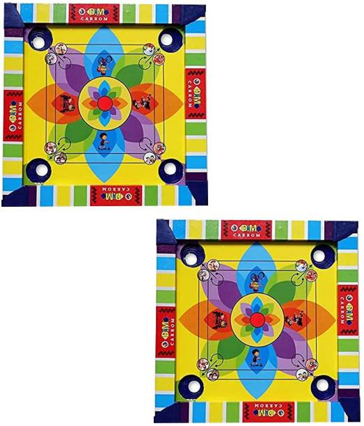 RAAYA Kids Wooden Carrom Board with Back Side Ludo Game 35 cm Carrom Board