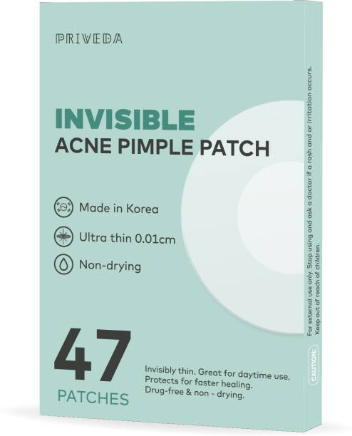 Priveda Invisible Acne Pimple patch-Ultra thin Facial Stickers cover with 100% Hydrocolloid (47 patches)