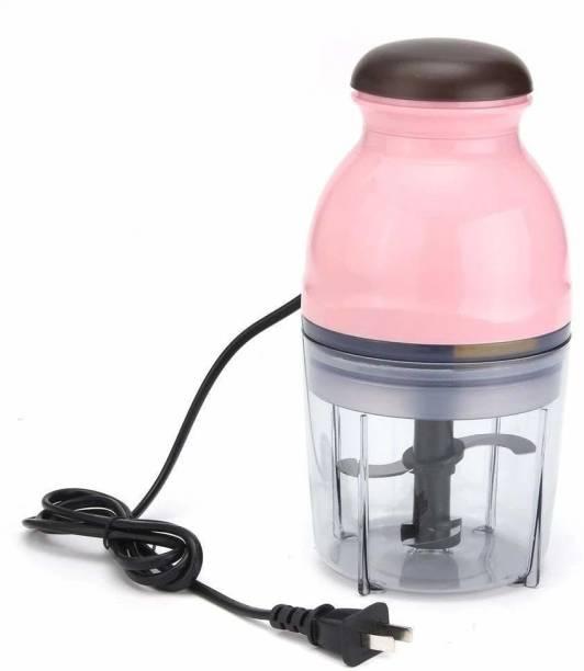 Dreamshop Electric Multi Purpose Vegetable Fruit Blender Mixer Food Processor Crusher Meat Grinder Mincer Capsule Cutter Quatre Unique Blender System Design for Shake, Travel Juicer 220 Juicer Mixer Grinder (1 Jar, Pink)