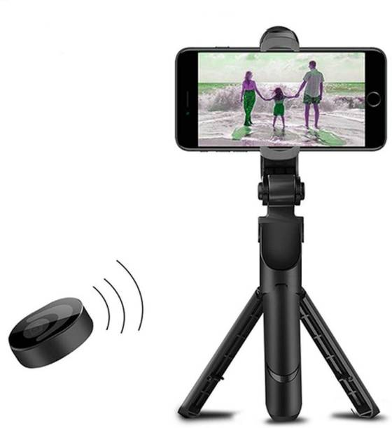 LUKECAGE XT-02 selfistick with tripod_Remote Adjustable Live Broadcast stand, with Viewing Angle 360 Degree Rotation 3 Axis Gimbal