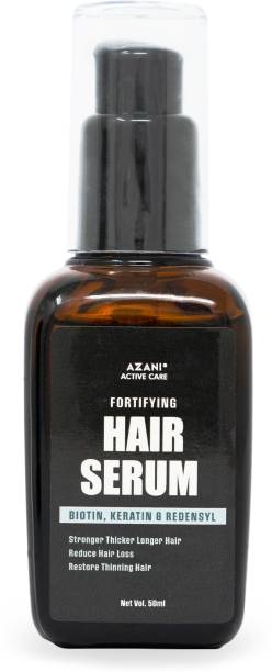 Azani Active Care Anti Hair Fall Serum| Hair Serum with Almond Oil, Vitamin E, Keratin, and Biotin for hair thinning