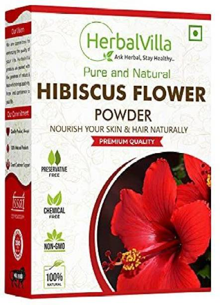 herbalvilla Hibiscus powder for hair growth (200 Grams) and face pack