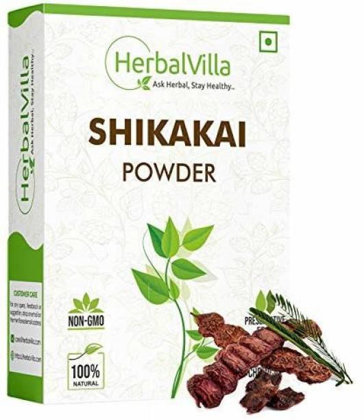herbalvilla Shikakai Powder for Hair (Natural hair cleanser for luxirious and soft hairs) (200 Grams)