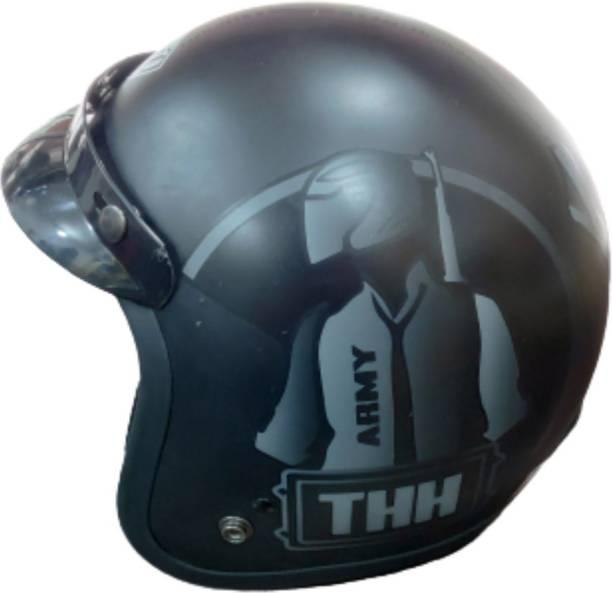 THH HELMETS FLY DECOR PUBG BLACK Motorbike Helmet