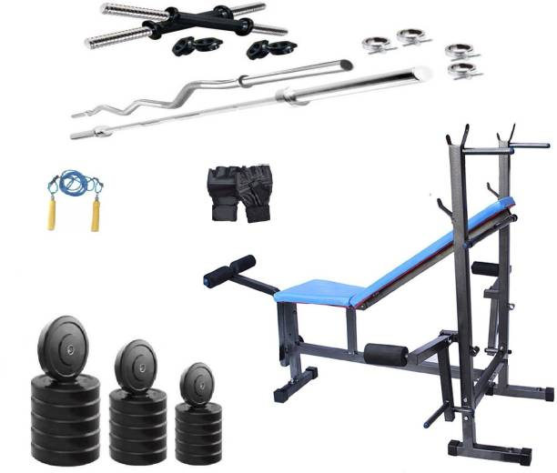 Star X 50 kg 50 Kg Pvc weight with rod home gym combo Home Gym Combo
