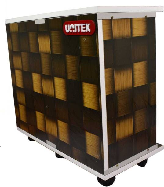 UNITEK Wooden Yellow & Brown Combination Trolley for Inverter and Battery